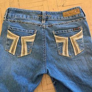 Seven7 Skinny Jean Leggings Jeggings Size 8 Bling